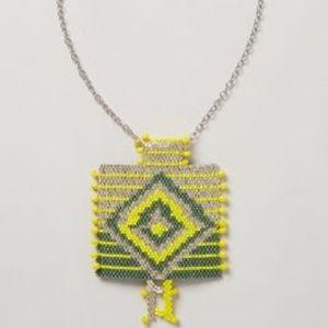 New Anthropologie Blanket Weave Pendant Necklace